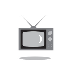 retro tv set vector image