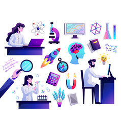 Science abstract colorful set vector