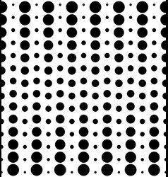 Seamless pattern different sized circles black vector