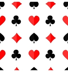 Seamless poker background with suits3 vector