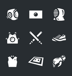 Set of kendo icons vector