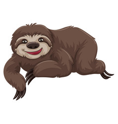 Sloth with happy face vector