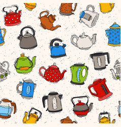 Teapot and kettle teakettle to drink tea on vector