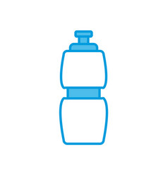 Thermo bottle isolated vector