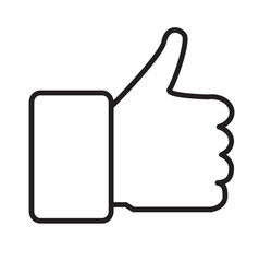thumb up icon isolated on white background thumb vector image