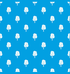 Tree pattern seamless blue vector