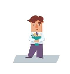 Upset business man cartoon character vector