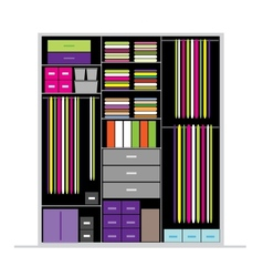 Wardrobe inside for your design vector image vector image