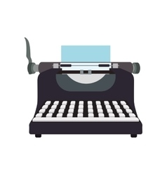 Write machine technology retro vintage icon vector image
