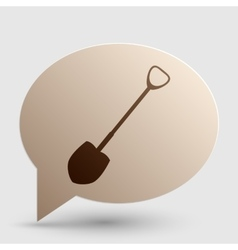 Shovel to work in the garden brown gradient icon vector