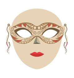 Venetian mask isolated icon vector