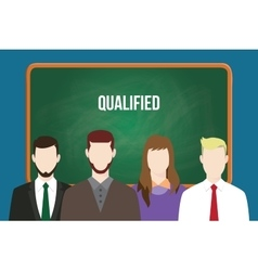 Qualified candidates with vector