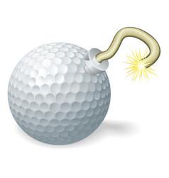 Golf ball bomb concept vector