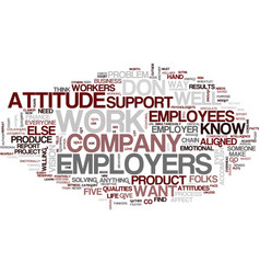 Five qualities employers want text background vector