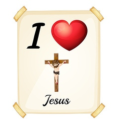 I love jesus vector