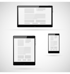 Set of tablet computers template vector