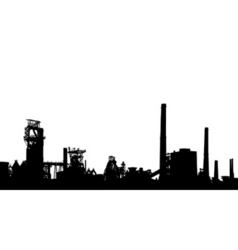 industrial foreground vector image