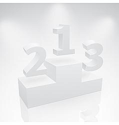 victory podium vector image