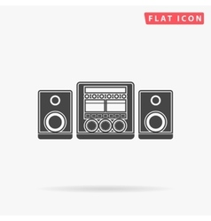 Sound system simple flat icon vector
