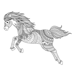 Horse coloring pages vector