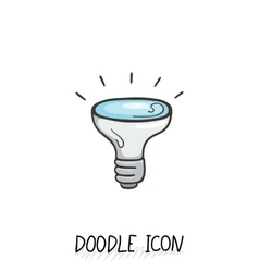 Doodle icon of light bulb vector