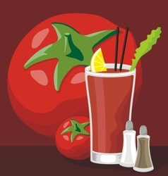 Bloody mary cocktail vector