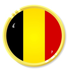 Button with flag belgium vector