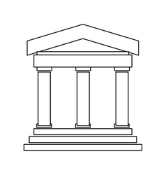 Greek or roman building vector