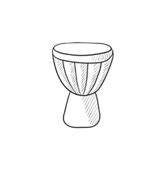 Timpani sketch icon vector