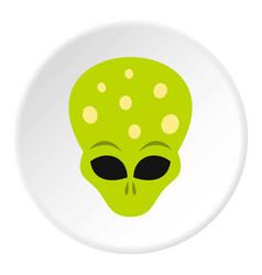 Alien icon circle vector