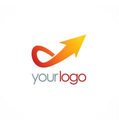 Arrow up logo vector