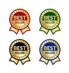 award ribbon the best seller vector image