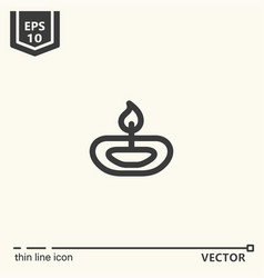 ayurvedic supplies - icon series vector image
