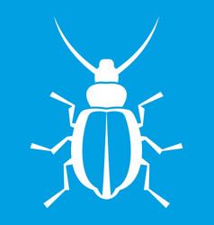 Beetle icon white vector