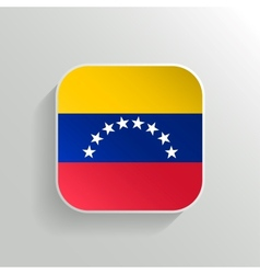 Button - Venezuela Flag Icon vector image