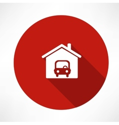 car in the garage icon vector image vector image