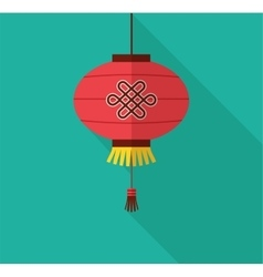 chinese new year clean flat design with lantern vector image