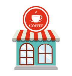 Coffee shop restaurant decorative vector
