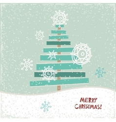 Creative paper Christmas tree vector image