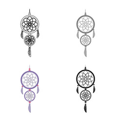 Dreamcatcher icon in cartoon style isolated on vector