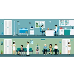 Examination rooms vector image