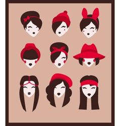 fashion girls collection vector image vector image