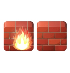 Firewall vector image