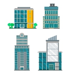 Flat Business Buildings vector image