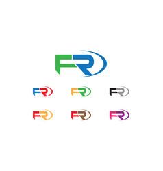 fr letter logo vector image vector image