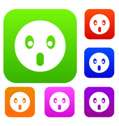 Frightened emotset collection vector