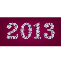 Greetings new year 2013 vector image vector image