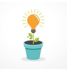 Growing idea - concept icon of education vector