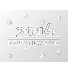 happy new year 2014 background vector image vector image