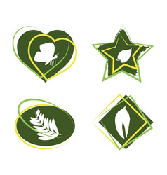 Icons emblem with naturals design vector